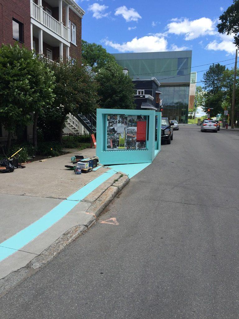 Installation d'une galerie - cartier montcalm